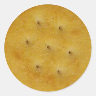 Snack Cracker Round Sticker