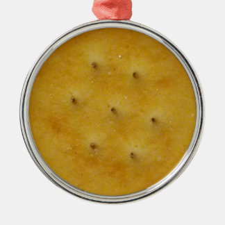 Snack Cracker Silver-Colored Round Decoration