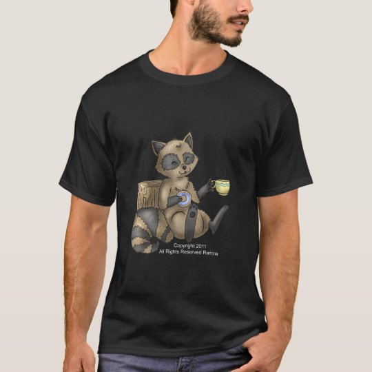 Snack-en Racoon all style shirt
