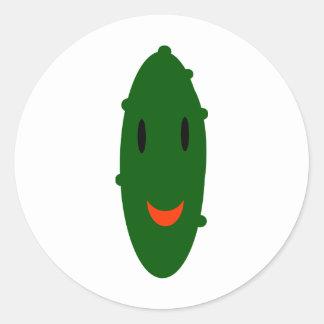 Snack Pickle Classic Round Sticker
