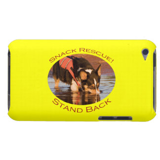 Snack Rescue with Yellow Background iPod Case-Mate Cases