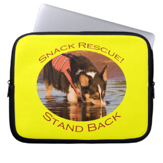 Snack Rescue with Yellow Background Laptop Computer Sleeve