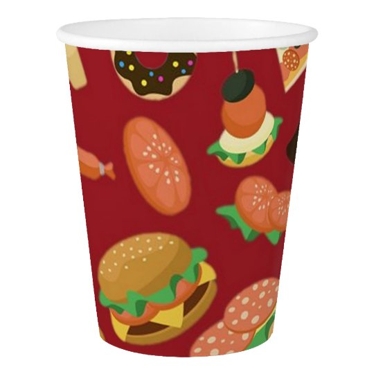 Snack Time Red Picnic Paper Cups