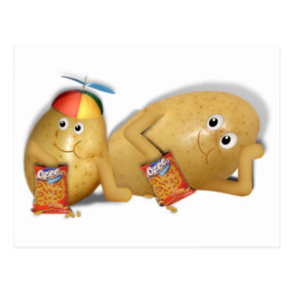 Snacking Potatoes - Father & Son Spuds Postcard