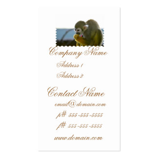 Snacking Squirrel Monkey Business Cards