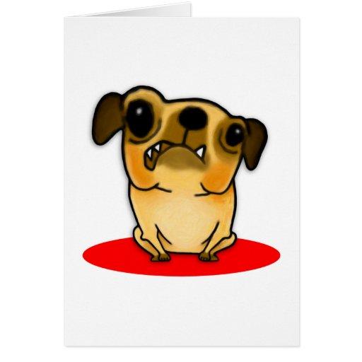 Snaggle Tooth Pug Greeting Card
