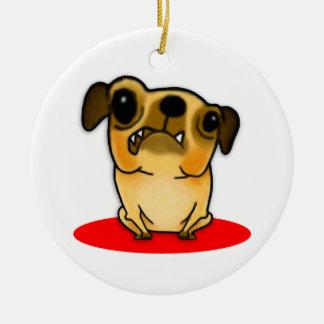 Snaggle Tooth Pug Christmas Ornament