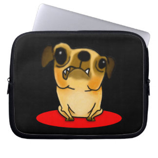 Snaggle Tooth Pug Laptop Sleeve