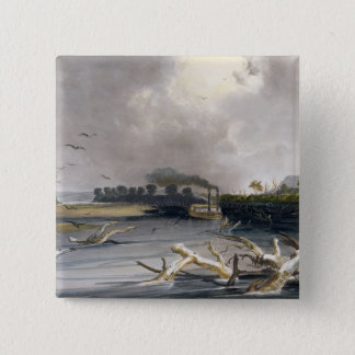 Snags (sunken trees) on the Missouri, plate 6 from 15 Cm Square Badge