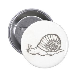 Snail 2¼ Inch Round Button