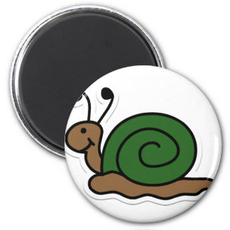 snail 6 cm round magnet