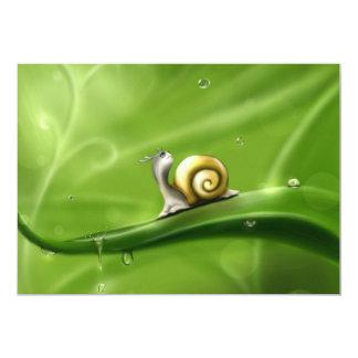 snail-83672 snail drops rain drawing children' ill 13 cm x 18 cm invitation card