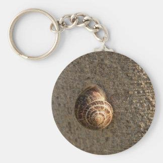 Snail Basic Round Button Key Ring