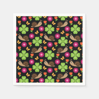 Snail & Clover Seamless Pattern Disposable Napkin