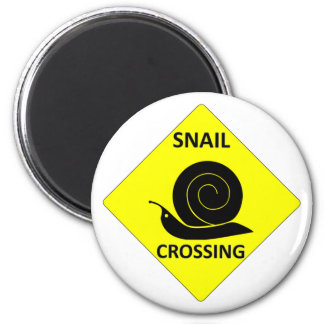 Snail Crossing Sign Magnet