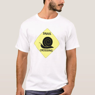Snail Crossing Sign T-Shirt