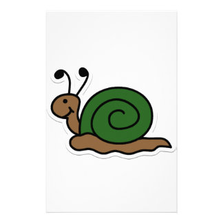 snail customised stationery