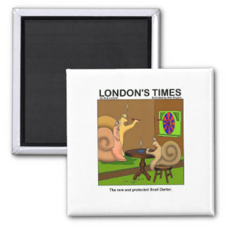 Snail Darter Funny Cartoon Gifts & Tees Square Magnet