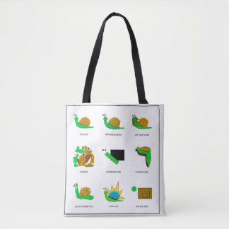 Snail Fashion Tote Bag