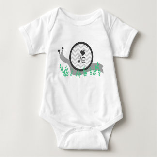 Snail Love Baby Shirt (one piece)