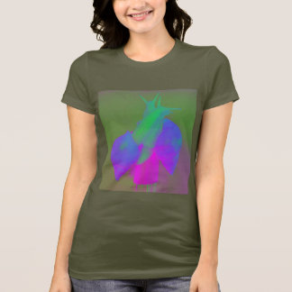 Snail love in pink green and purple T-Shirt