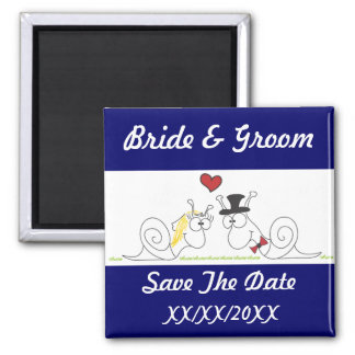 Snail love save the date magnet