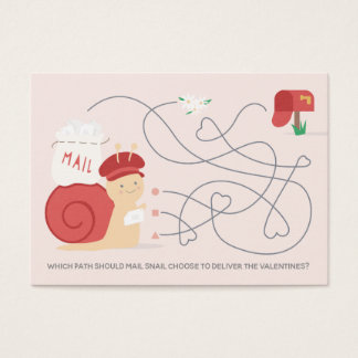 Snail Mail Activity Classroom Valentine Card