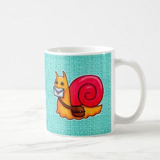 Snail mail basic white mug