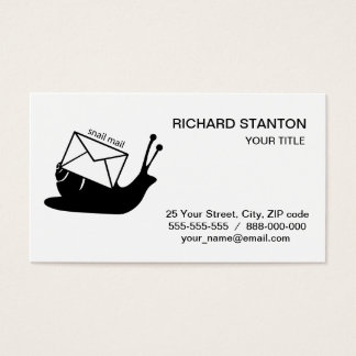 Snail mail business card
