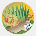 Snail Mail Round Sticker
