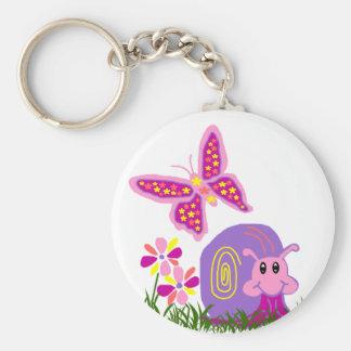 Snail n Butterfly key chain