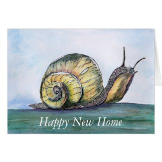 Snail New Home card (a257) title=
