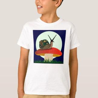 Snail On A Mushroom T-Shirt. T-Shirt