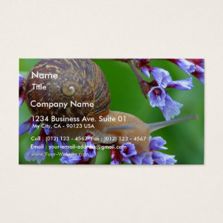 Snail On Flowers Business Card