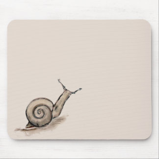 Snail original pastel zen drawing mouse mat