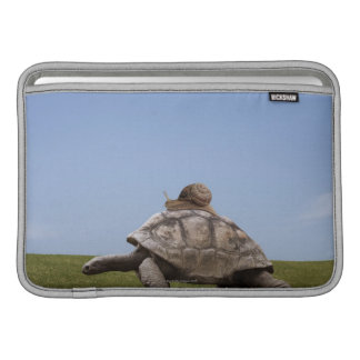 Snail over a turtle MacBook sleeve
