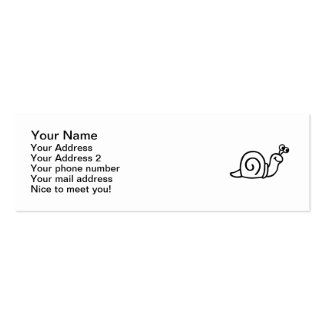 Snail Pack Of Skinny Business Cards