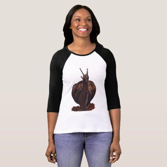 Snail Pastels Drawing Sleeve Raglan T-Shirt