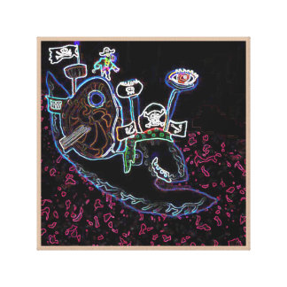 Snail Pirate Magrid And Silly Sally Parrot Gallery Wrapped Canvas