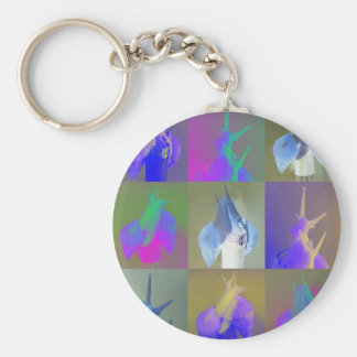 Snail Pop Art Key Ring