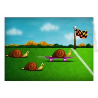 Snail Race Card