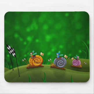Snail Racing Mouse Pad