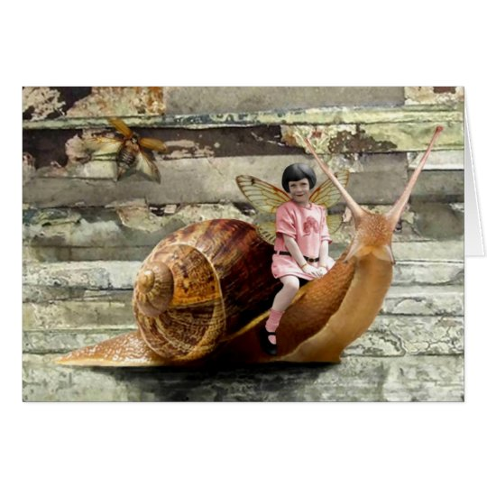 Snail Ride Greeting Card