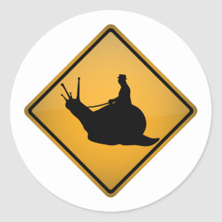 Snail Riding Classic Round Sticker