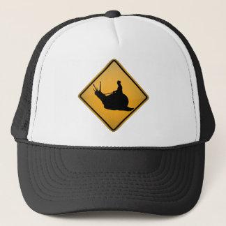 Snail Riding Trucker Hat