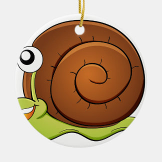 Snail Round Ceramic Decoration