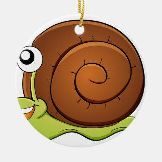 Snail Round Ceramic Decoration