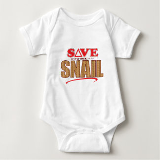 Snail Save Baby Bodysuit