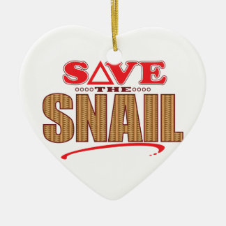 Snail Save Ceramic Heart Decoration