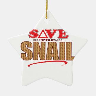 Snail Save Christmas Ornament